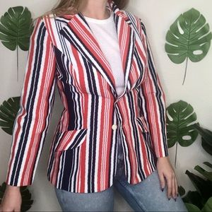Vintage 60s Copley Striped Union Labor Blazer